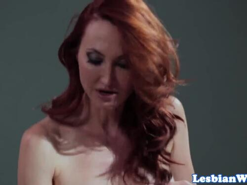 Redhead lezdom predominates oral-job bang-out